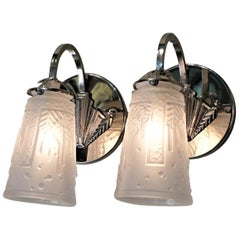 Pair of Art Deco Wall Sconces by Muller Freres