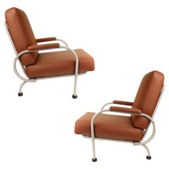 Pair of Art Deco Warren McArthur Lounge Chairs, 1930s