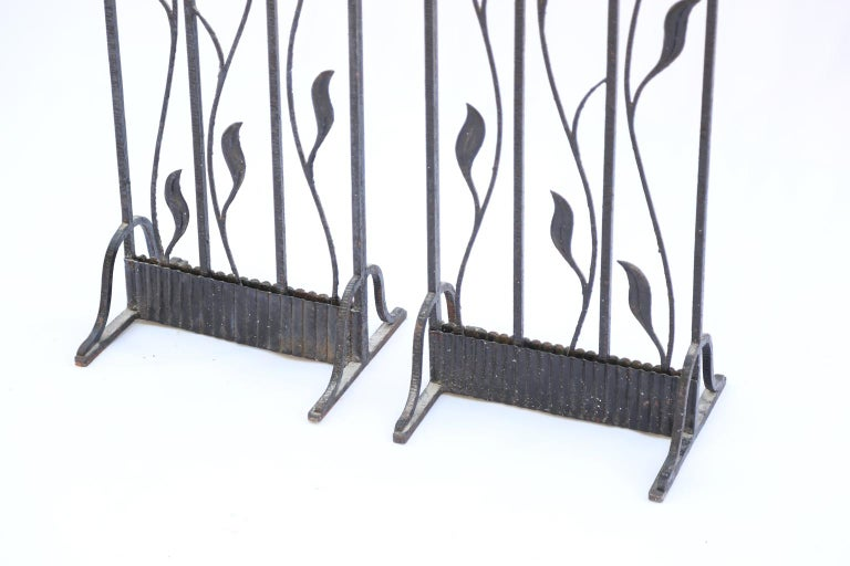 French Pair of Art Deco Wrought Iron Room Dividers For Sale