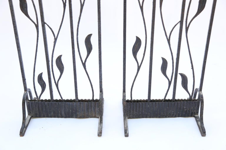 Pair of Art Deco Wrought Iron Room Dividers For Sale 1