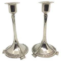 Pair of Art Nouveau Candlesticks Candleholders Antique, German, 1900s