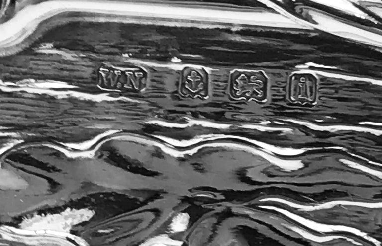 Pair of Art Nouveau Sterling Silver Photograph Frames For Sale 1