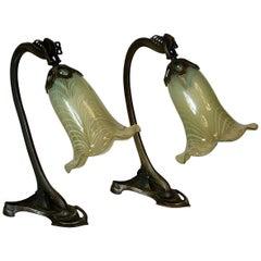 Pair of Art Nouveau Table Lamps