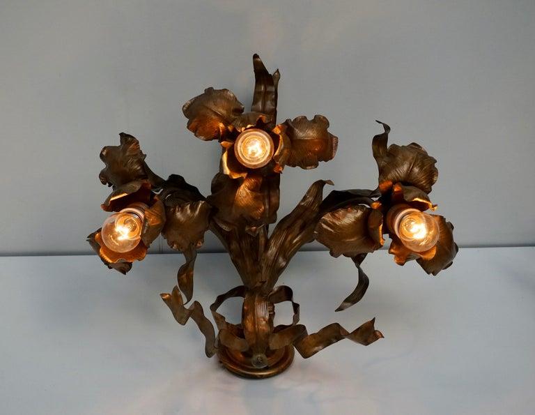 Pair of Art Nouveau Wall Lights, Sconces Belgium For Sale 6
