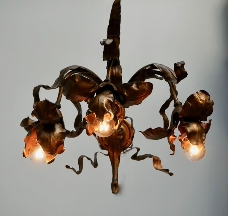 Pair of Art Nouveau Wall Lights, Sconces Belgium In Good Condition For Sale In Antwerp, BE