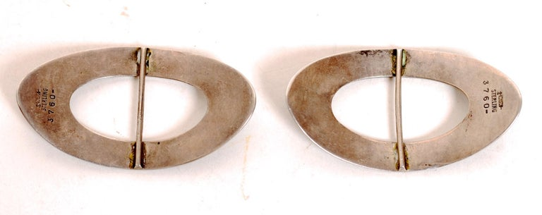 Pair of Art Noveau Antique Sterling Silver Shoe Buckles c1890 by William Kerr For Sale 2