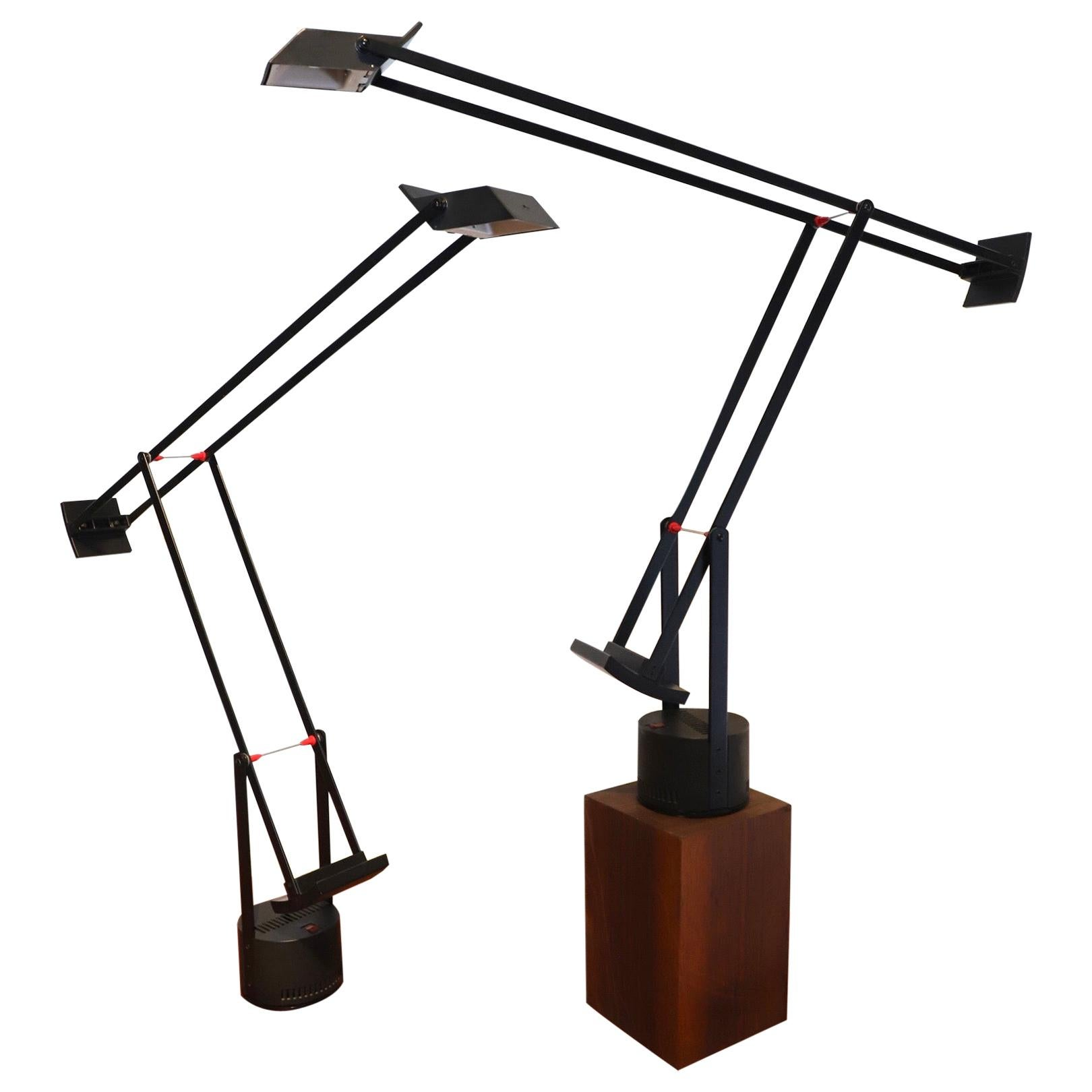 Pair of Articulated Tizio Lamps by Richard Sapper for Artemide