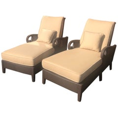 Pair of Articulating Chaise Lounges by Richard Frinier for Century Furniture
