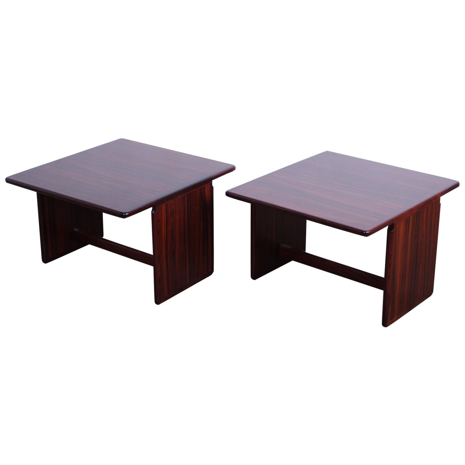 """Pair of """"Artona"""" Tables by Afra and Tobia Scarpa"""