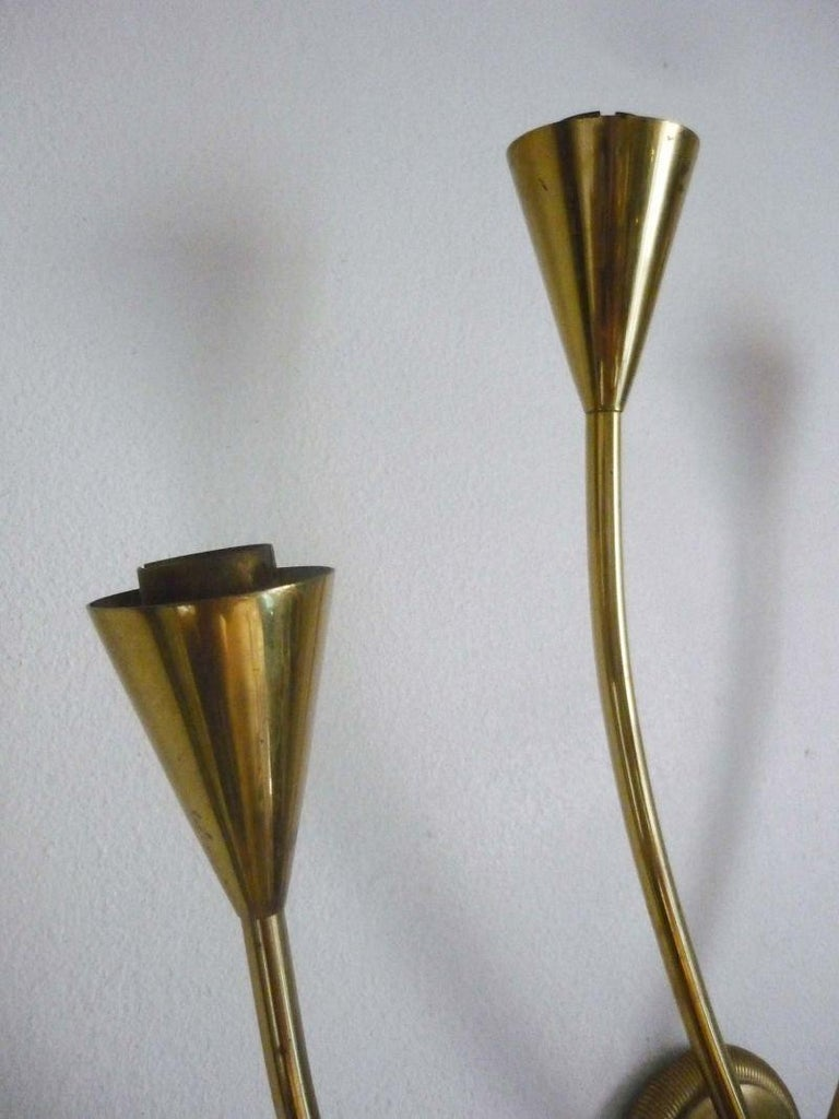 Pair of Arum Sconces by Maison Arlus For Sale 10