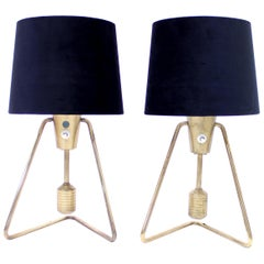Pair of ASEA Brass Table or Wall Lamps, 1950s