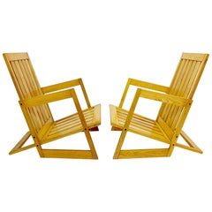 Pair of Ash Armchairs