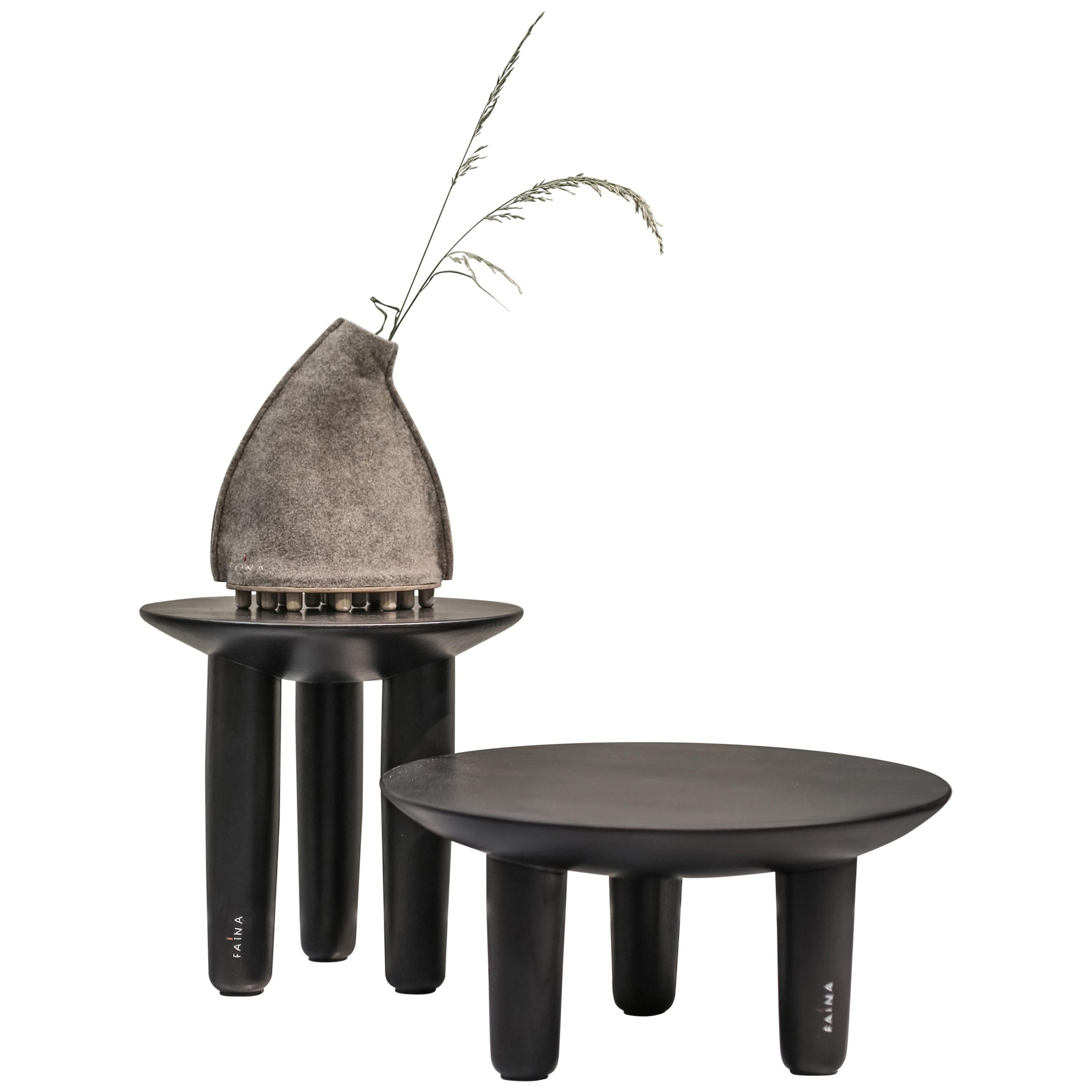 Pair of Ash Contemporary Coffee Tables by FAINA