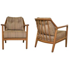 Pair of Ash Group Spindle Back Chairs by Jack Van der Molen for Jamestown Lounge