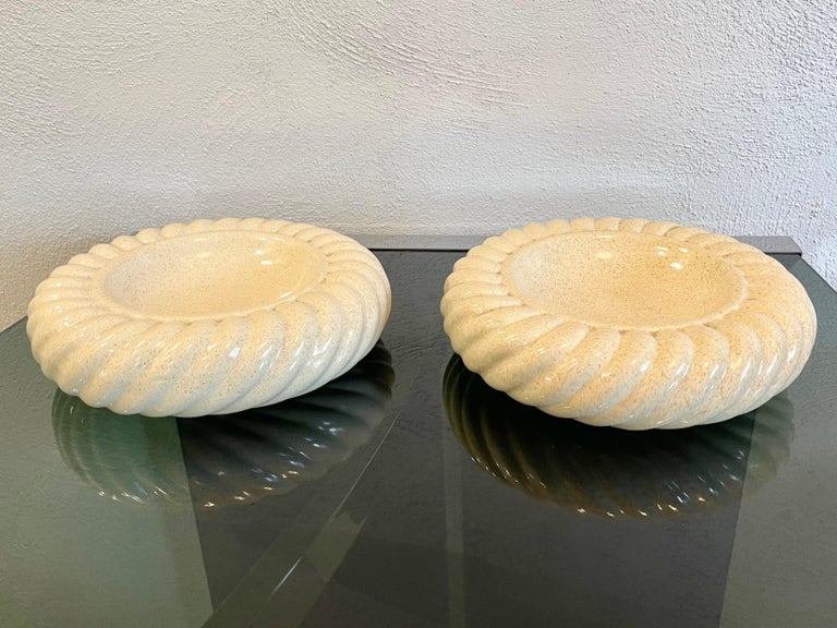 Italian Pair of Ashtray Ceramic Vide-Poche by Tommaso Barbi for B Ceramiche, Italy 1970s For Sale