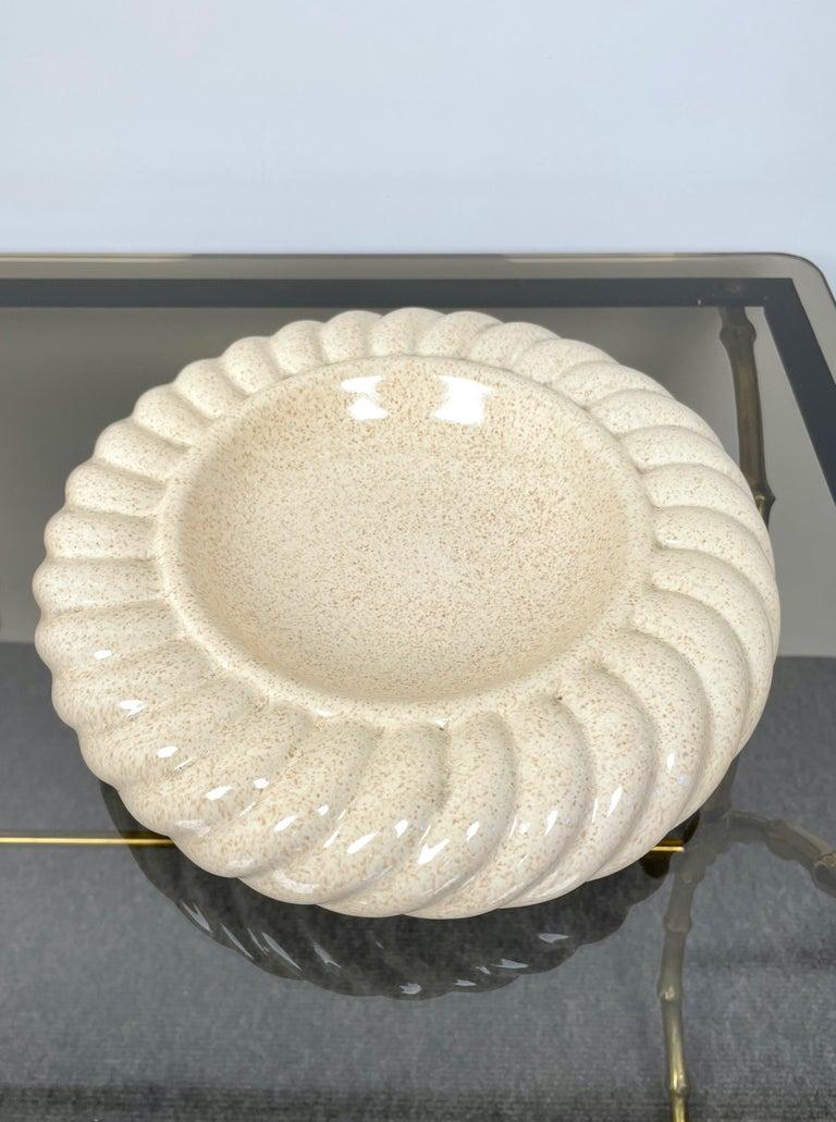 Pair of Ashtray Ceramic Vide-Poche by Tommaso Barbi for B Ceramiche, Italy 1970s For Sale 2