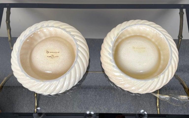 Pair of Ashtray Ceramic Vide-Poche by Tommaso Barbi for B Ceramiche, Italy 1970s For Sale 3