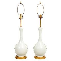 Pair of Asian Celadon Lamps