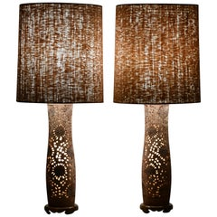 Pair of Asian Modern Table Lamps, 1970s