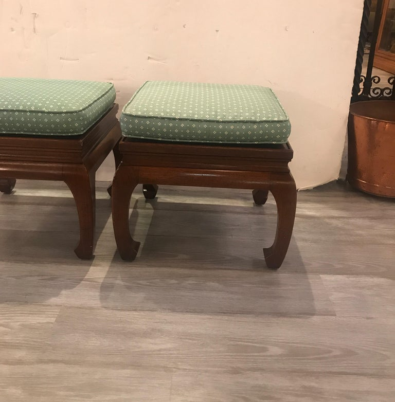 Hollywood Regency Pair of Asian Style Benches or Stands For Sale