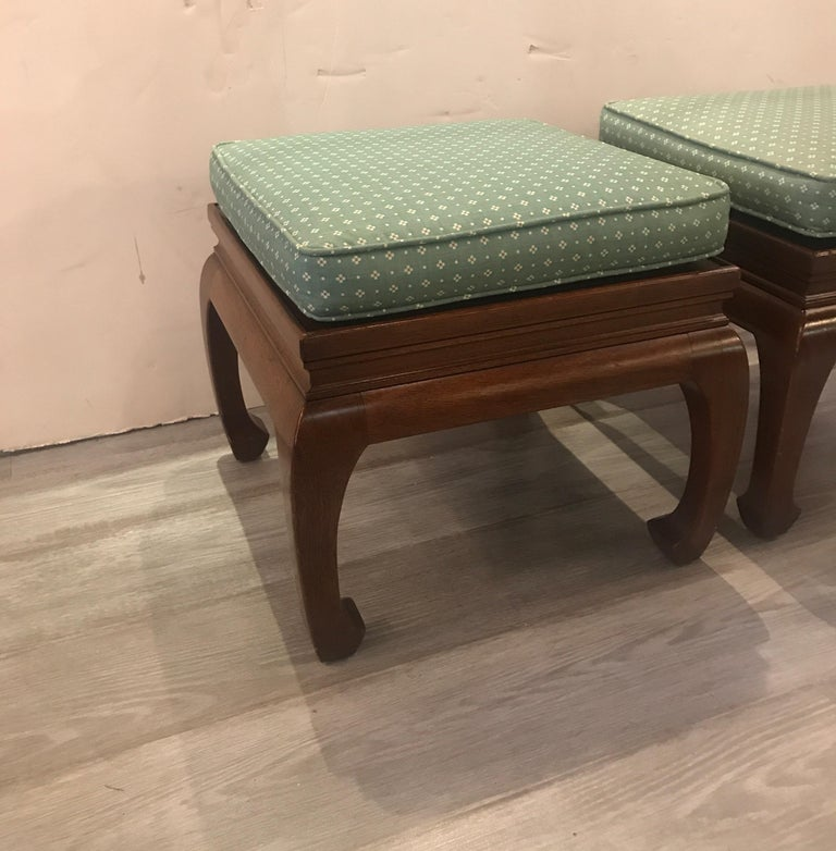 American Pair of Asian Style Benches or Stands For Sale