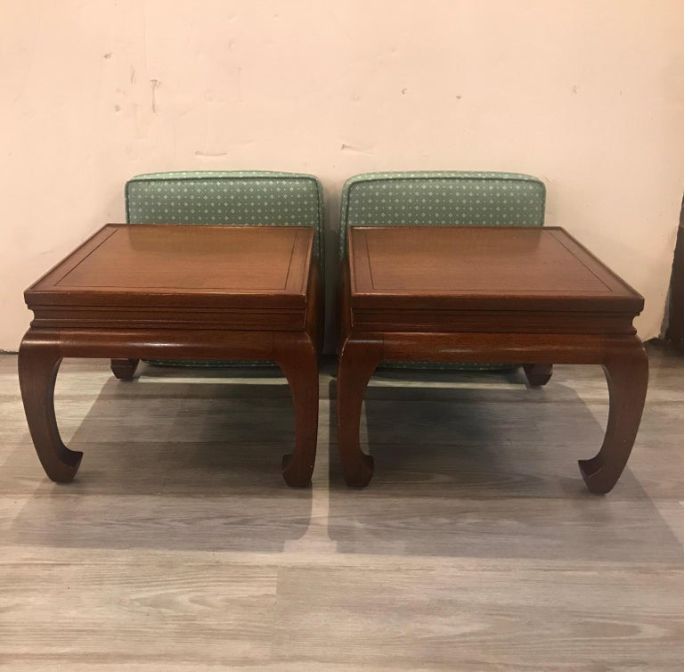 Pair of Asian Style Benches or Stands In Good Condition For Sale In Lambertville, NJ