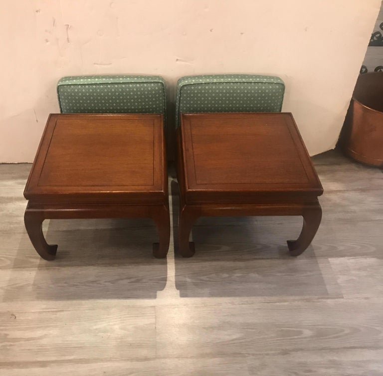 20th Century Pair of Asian Style Benches or Stands For Sale