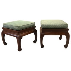 Pair of Asian Style Benches or Stands