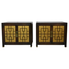 Pair of Asian Style End Tables or Nightstands