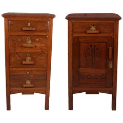 Pair of Asian Teak Side or End Tables, circa 1960