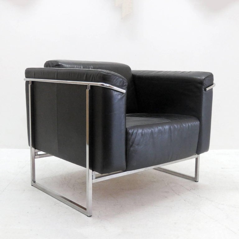 Modern Pair of Asko 'Classio' Leather Chairs, Model 8283 For Sale