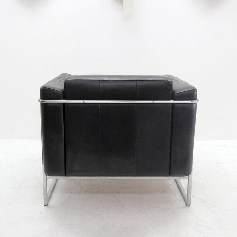 Late 20th Century Pair of Asko 'Classio' Leather Chairs, Model 8283 For Sale