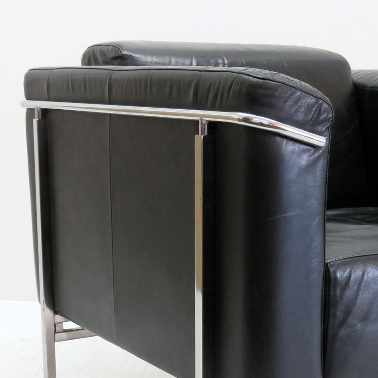 Pair of Asko 'Classio' Leather Chairs, Model 8283 For Sale 3