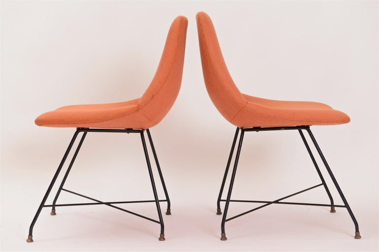 Mid-Century Modern Pair of 'Aster' Chairs by Augusto Bozzi, Italy, circa 1956