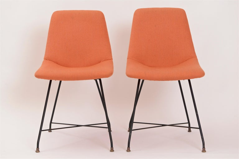 Brass Pair of 'Aster' Chairs by Augusto Bozzi, Italy, circa 1956
