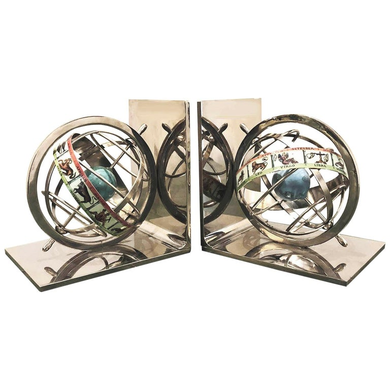 Pair of Astrological Bookends For Sale