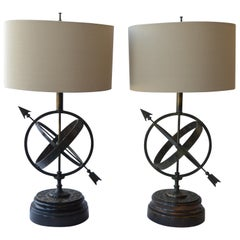 Pair of Astrology Table Lamps
