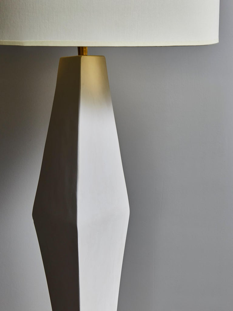 French Pair of Asymetrical Plaster Table Lamps For Sale