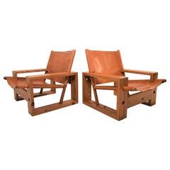 Pair of Ate Van Apeldoorn Lounge-Chairs by Houtwerk Hattem, 1970s