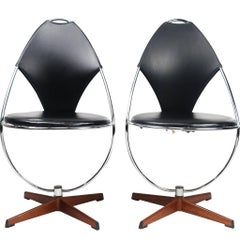 Pair of Atomic Age Dahlens Dalum Side Chairs