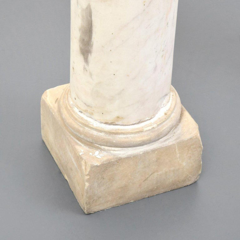 Pair of Attica Marble Greek Columns For Sale 2