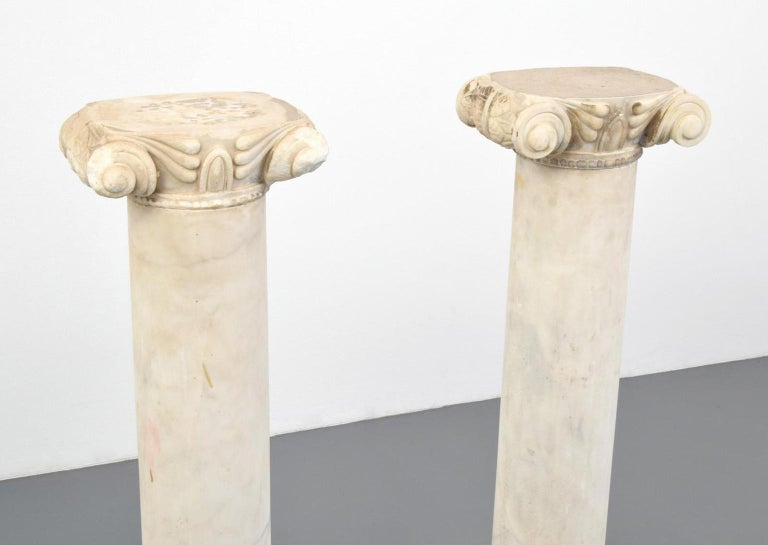 Pair of Attica Marble Greek Columns For Sale 3