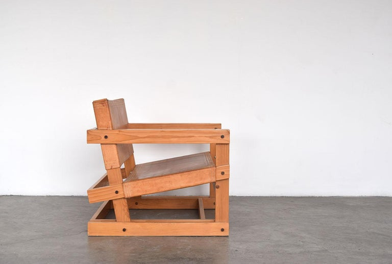 Modern Pair of Attolini Chairs by Mexican Architect Antonio Attolini For Sale