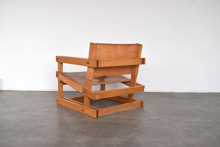 Late 20th Century Pair of Attolini Chairs by Mexican Architect Antonio Attolini For Sale