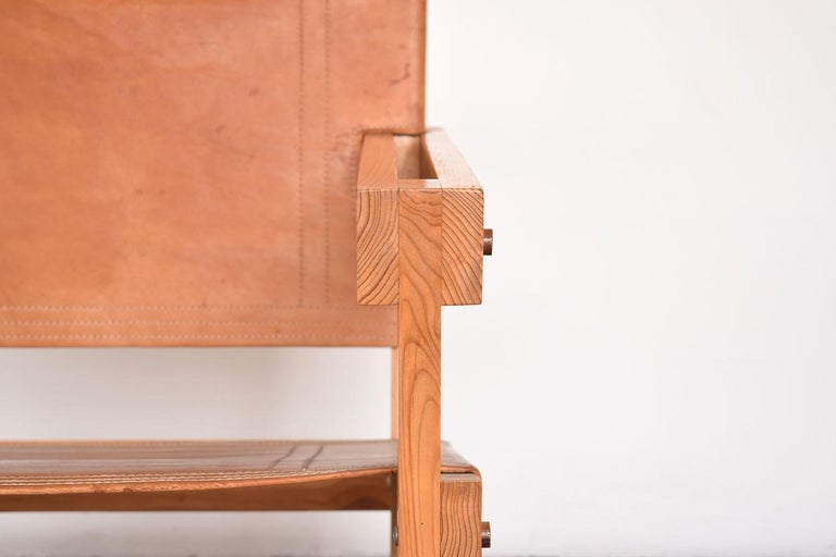 Pine Pair of Attolini Chairs by Mexican Architect Antonio Attolini