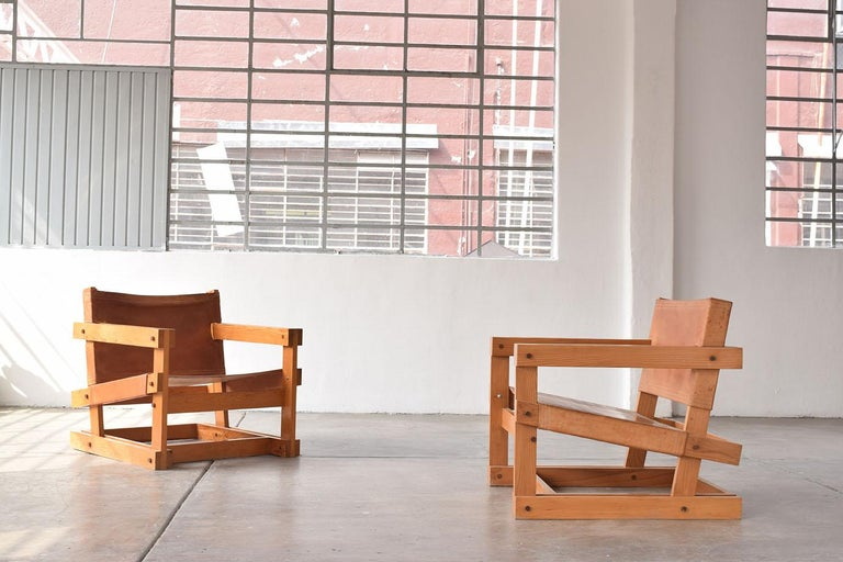 Pair of Attolini Chairs by Mexican Architect Antonio Attolini For Sale 1