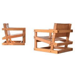 Pair of Attolini Chairs by Mexican Architect Antonio Attolini