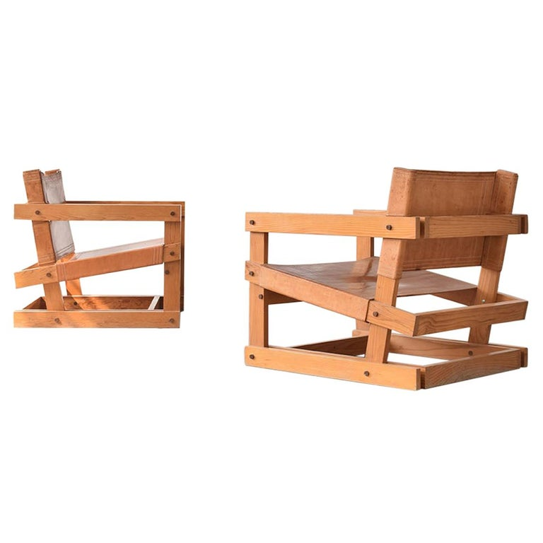 Pair of Attolini Chairs by Mexican Architect Antonio Attolini For Sale