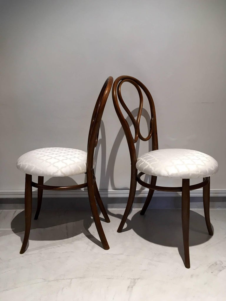 Vienna Secession Pair of August Thonet Bentwood Chairs by Thonet Bros For Sale