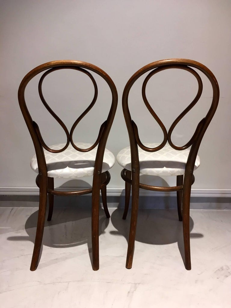 Austrian Pair of August Thonet Bentwood Chairs by Thonet Bros For Sale